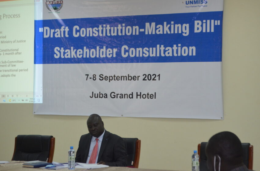 "South Sudan consults over new ""inclusive"" constitution"